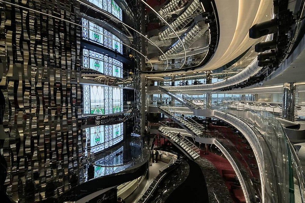 MSC Seaside Atrium: Photo Credit MSC Cruises