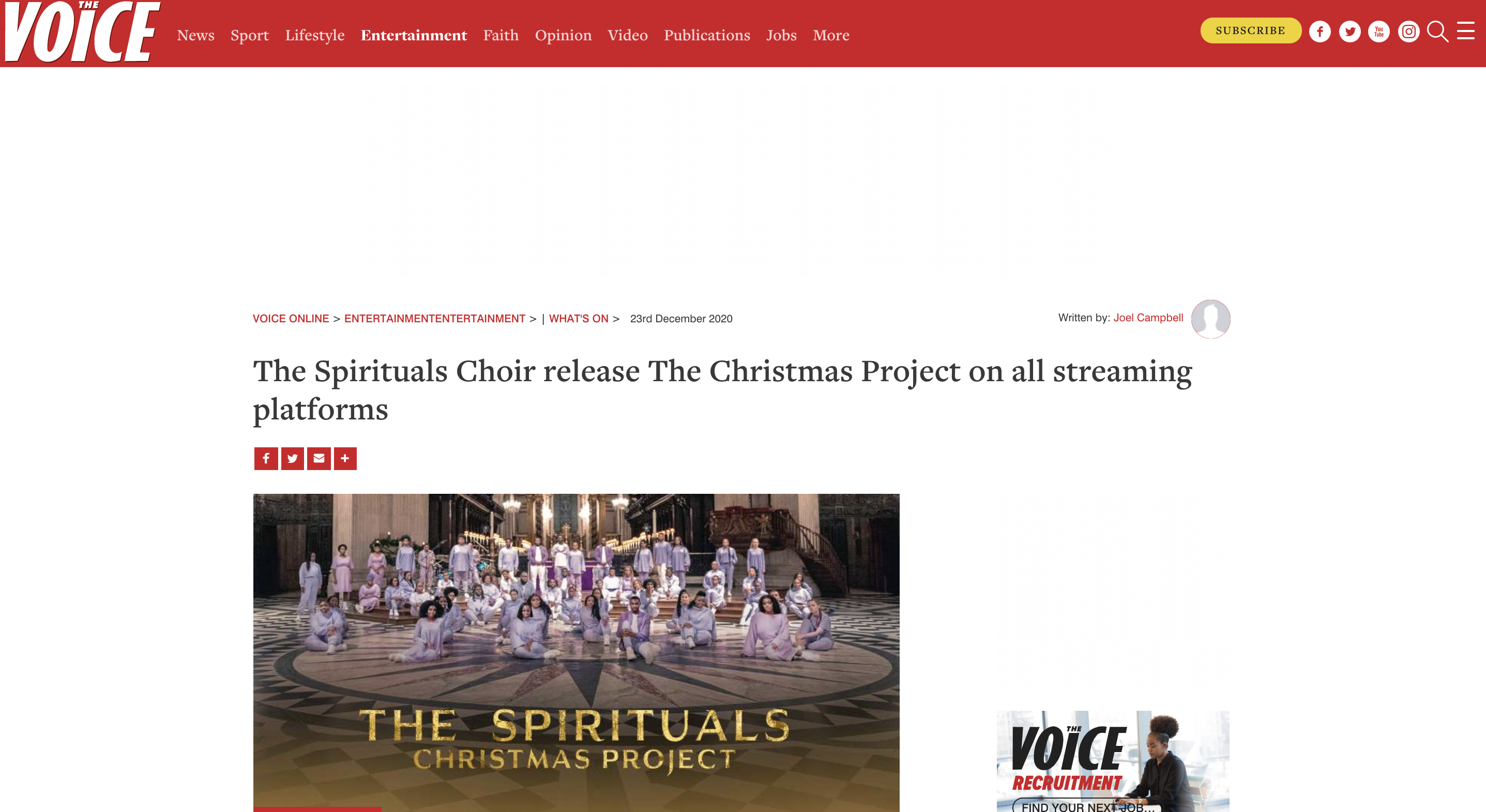 the spirituals in the voice