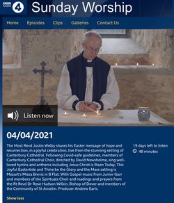 Radio 4 - Justin Welby - The Spiritiuals Choir