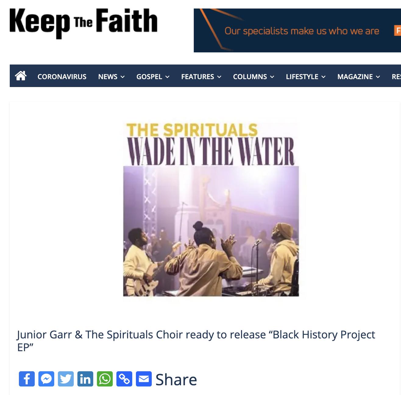Keep the Faith - Wade in the Water - The Spirituals Choir