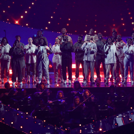 """Team GB Homecoming - The Spirituals Choir """"Something Inside So Strong""""."""