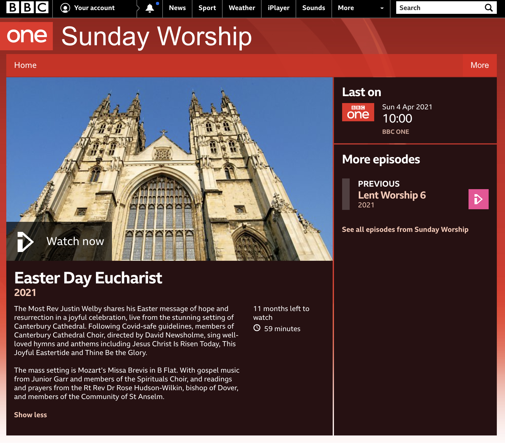 Sunday Worship - The Spirituals - Easter Sunday