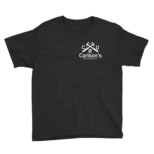 Carlson's Rustic Designs I Support Police Officers YOUTH Short Sleeve T-Shirt
