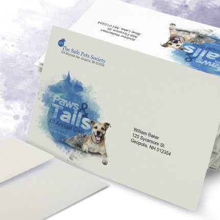 Variable Data - Envelops, Event Tickets, Post cards