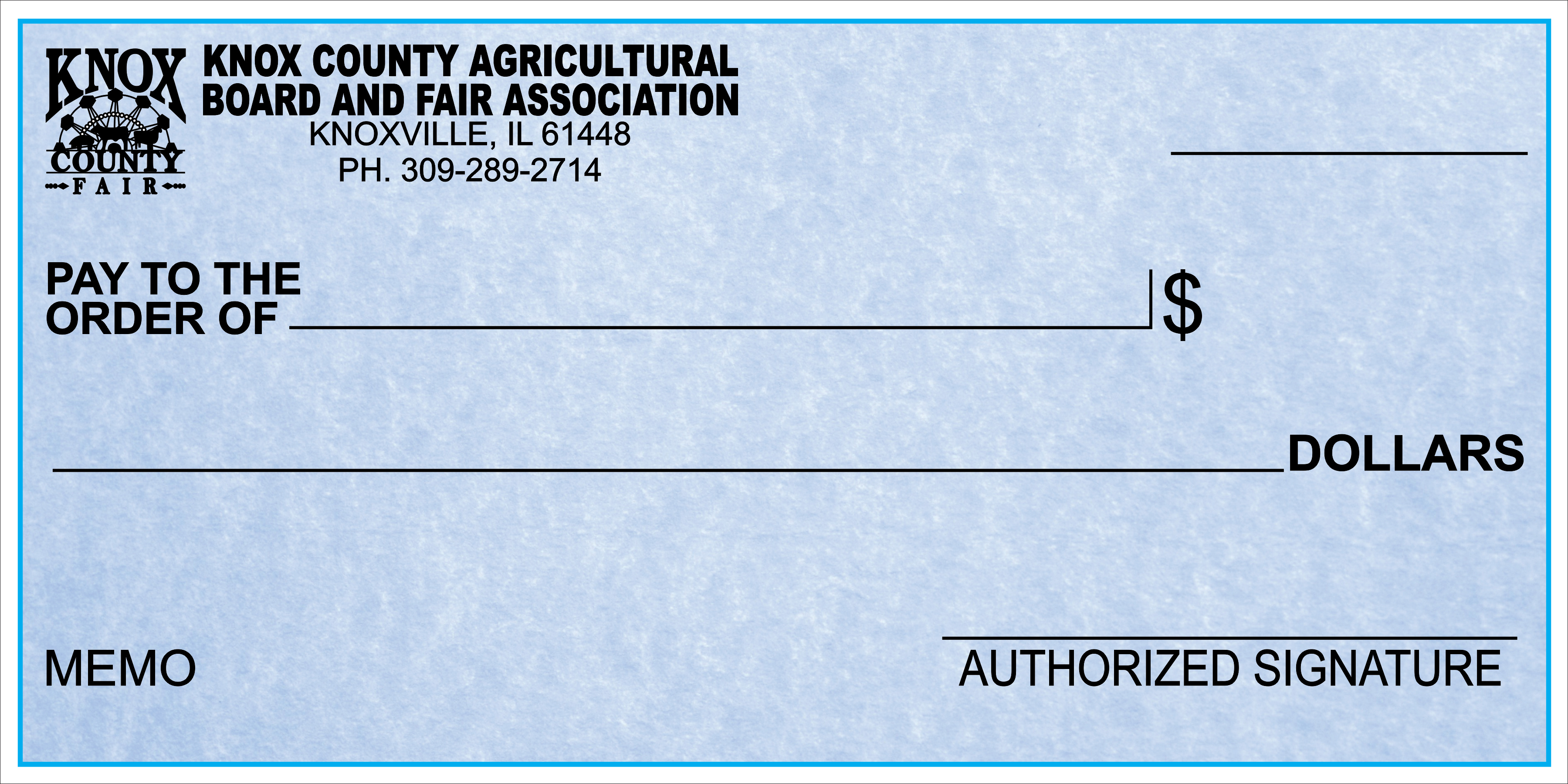 Knox County Fair Big Check Idea
