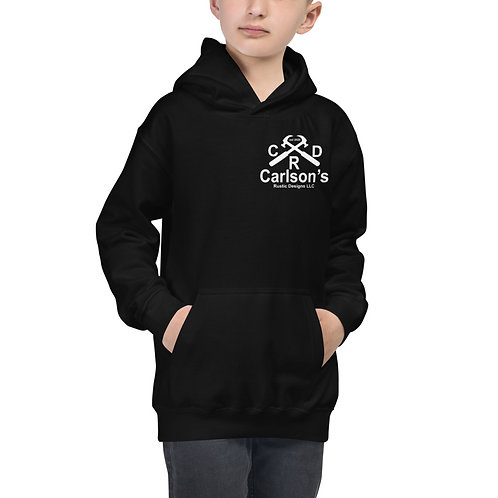 Carlson's Rustic Designs I Support The Military KIDS Hoodie