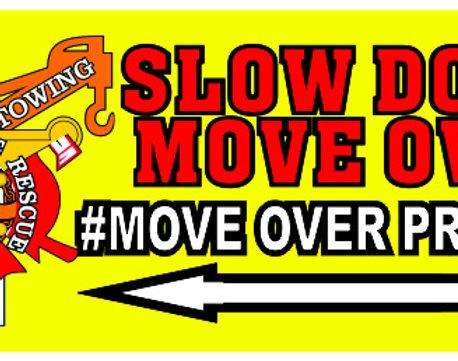 #MOVEOVERPROJECT Bumper/Window Sticker 12x5