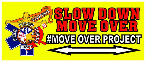 #MOVEOVERPROJECT Bumper/Window Sticker 12x5