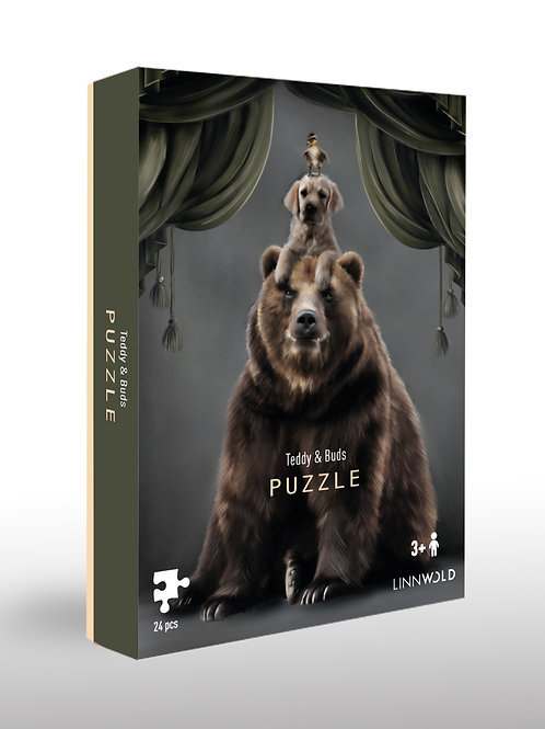 Teddy & Buds Puzzle 4-pack