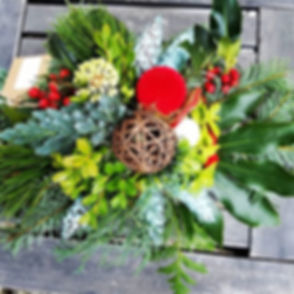 Flowerless ,but colorful centerpiece perfect for this season!_#christmascenterpiece