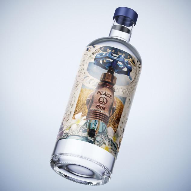 Catskill Distilling Company - Peace Gin label design