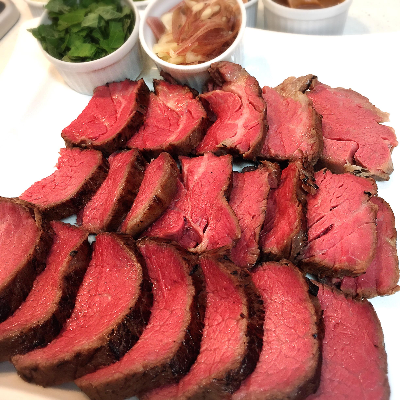 A5和牛フィレ肉の低温調理