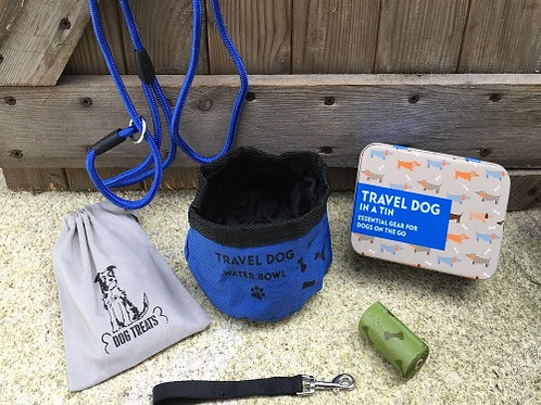 Gift in Tin - Essential items for travel dog