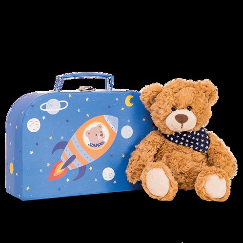 Hermann - Teddy Ferdi in suitcase