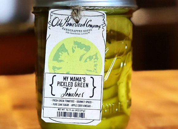 My Mama's Pickled Green Tomatoes