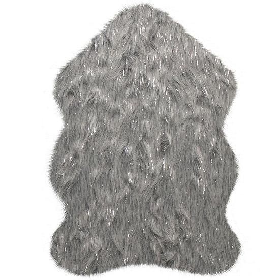 Flair Rugs Faux Fur Aura Glacier