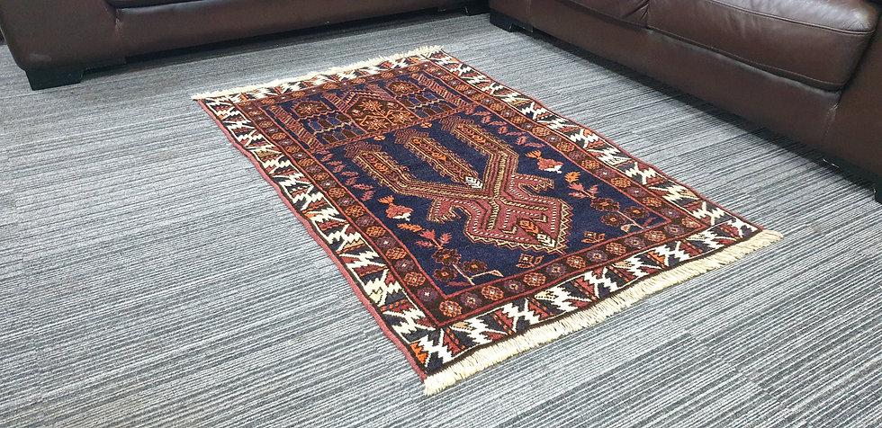 Vintage Wool Pre-Owned Rugs Afghan Belutsch 87 x 135 cm