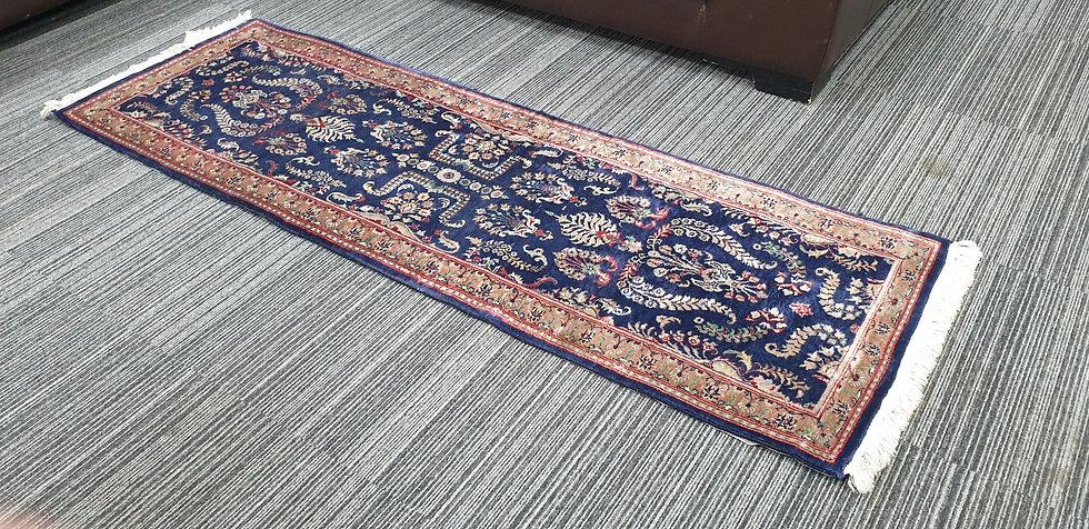 Vintage Wool Pre-Owned Rugs Pakistani Ghom 64 x 195 cm