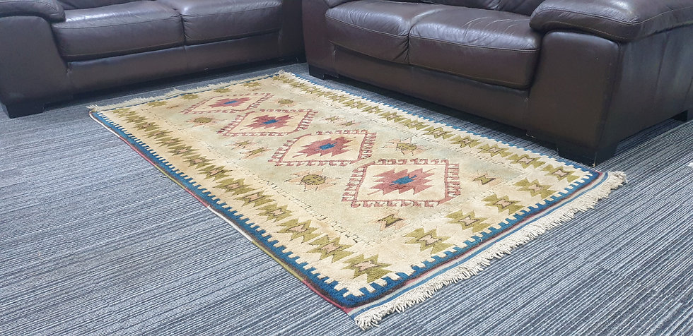 Vintage Wool Pre-Owned Rugs Turkish Nidge Kars 112 x 195 cm