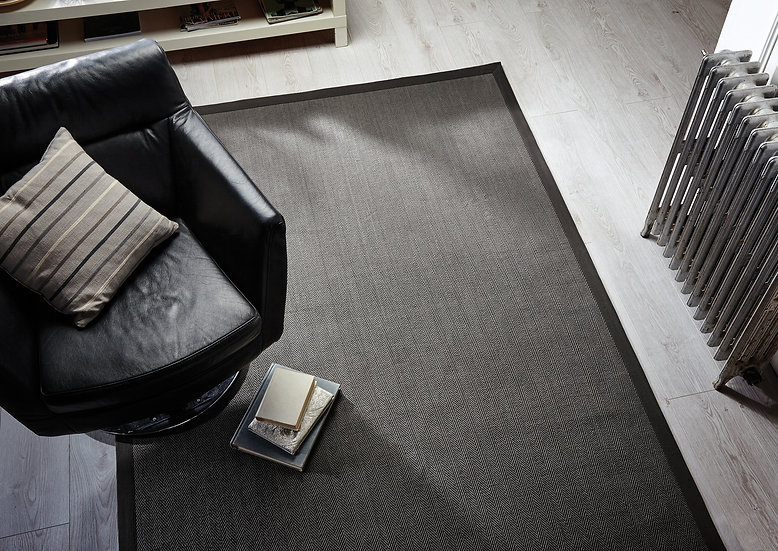 Flair Rugs Natural Fibre Herringbone Grey/Grey