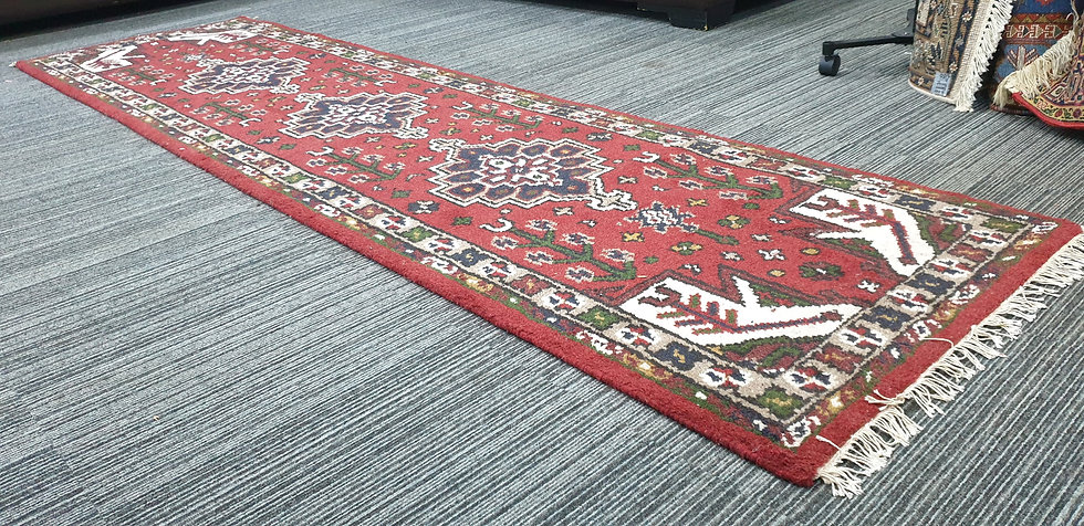 Vintage Wool Pre-Owned Rugs Indian Bidjar VWR01 74 x 268 cm