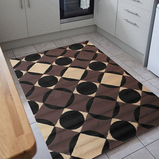 Flair Rugs Simplicity Element Carnaby Chocolate