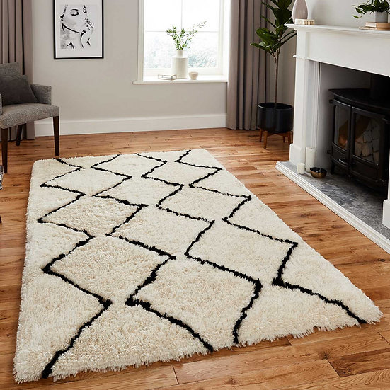 Think Rugs Morocco 3742 Ivory/Black