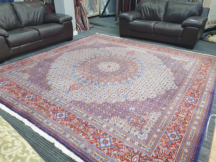 Vintage Wool Pre-Owned Rugs Persian Moud 300 x 300 cm