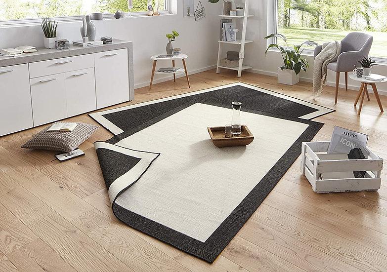 Bougari Reversible carpet Panama cream black indoor & outdoor 103105