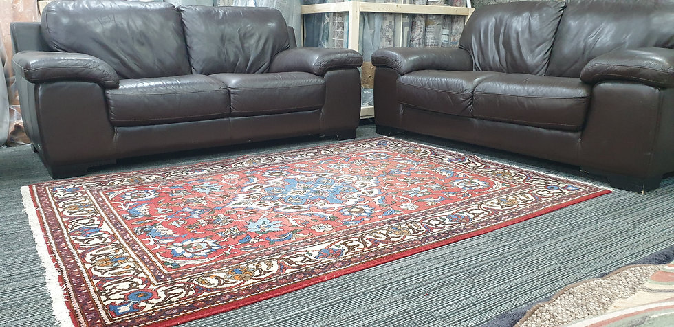 Vintage Wool Pre-Owned Rugs Persian Keshan 140 x 200 cm