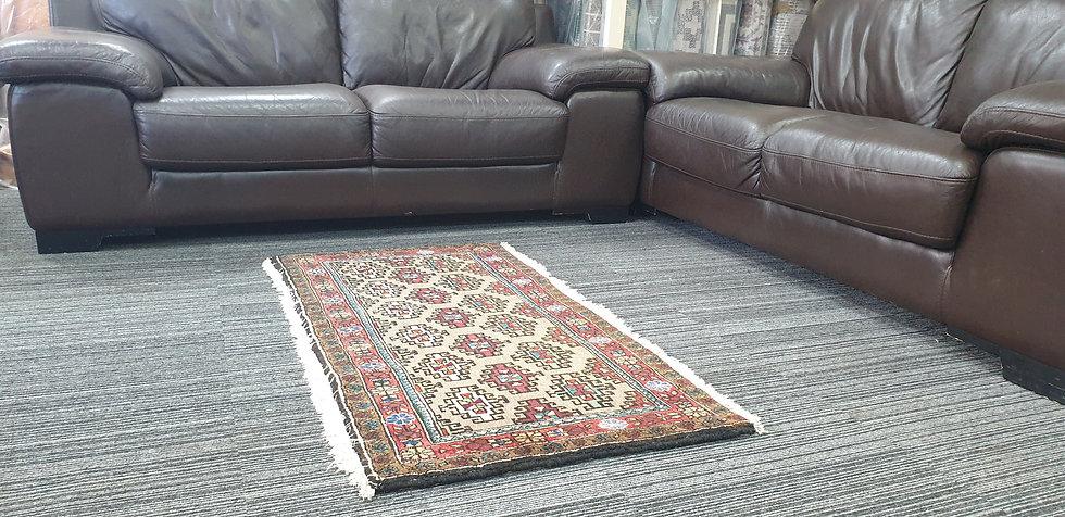 Vintage Wool Pre-Owned Rugs Persian Senneh 65 x 127 cm
