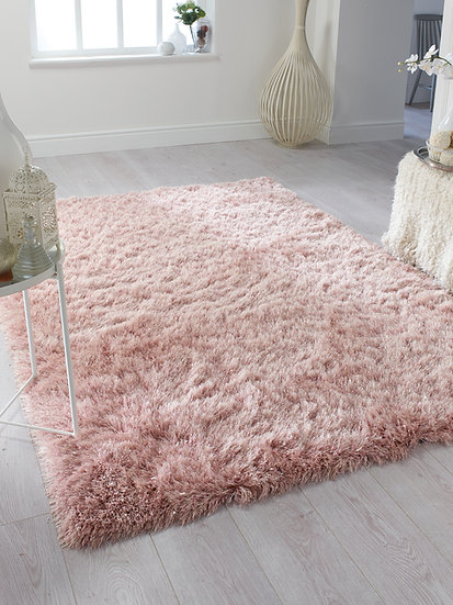 Flair Rugs Simplicity Dazzle Blush Pink