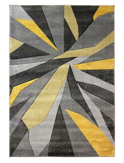 Flair Rugs Simplicity Hand Carved Shatter Ochre