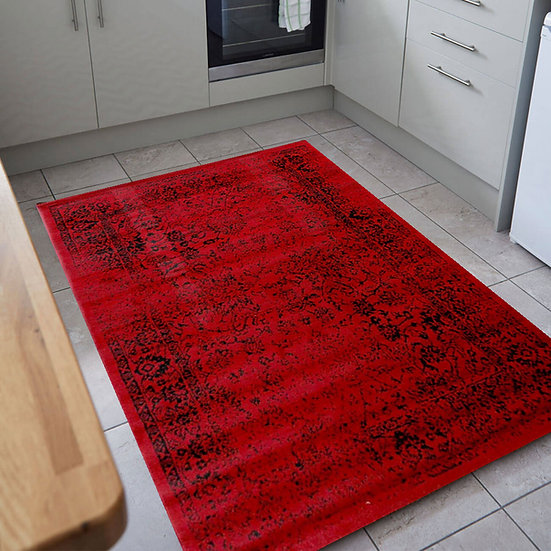 Flair Rugs Simplicity Element Bonetti Red