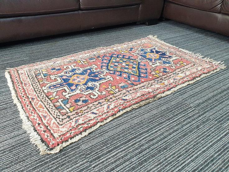 Vintage Wool Pre-Owned Rugs Persian Hamadan 60 x 110 cm