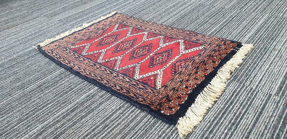 Vintage Wool Pre-Owned Rugs Pakistani Bukhara 87 x 115 cm