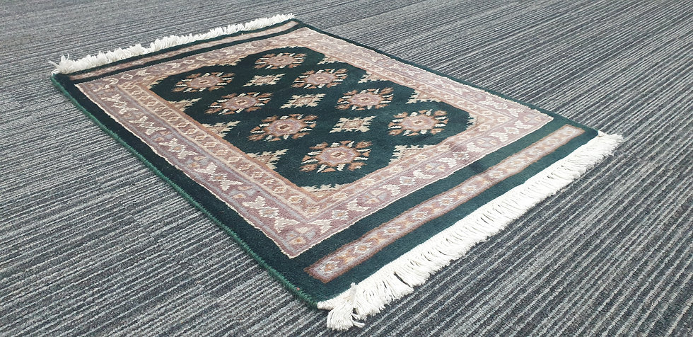 Vintage Wool Pre-Owned Rugs Pakistani Bukhara 47 x 65 cm