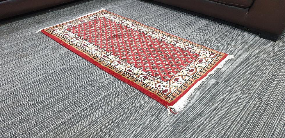 Vintage Wool Pre-Owned Rugs Indian Mir 72 x 140 cm