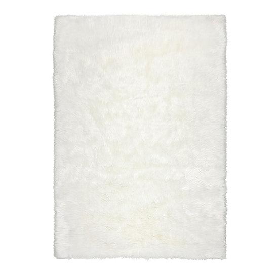 Flair Rugs Faux Fur Sheepskin Ivory