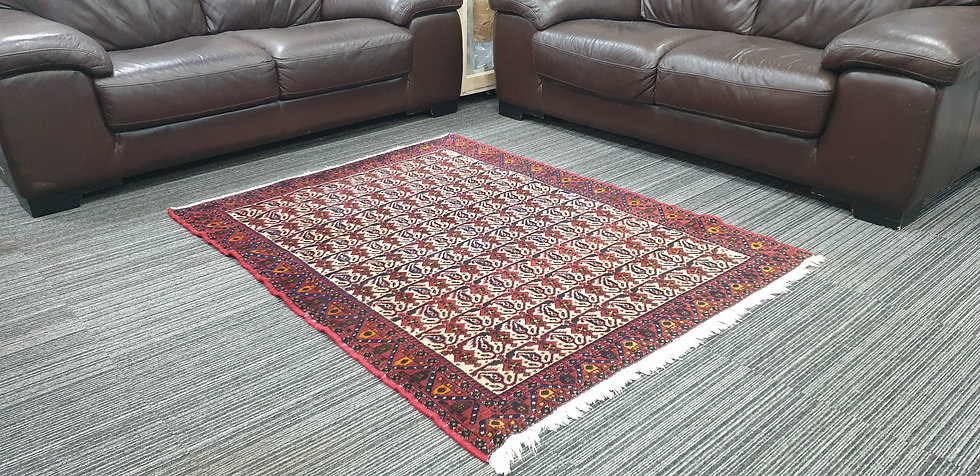 Vintage Wool Pre-Owned Rugs Persian Abadeh 121 x 158 cm
