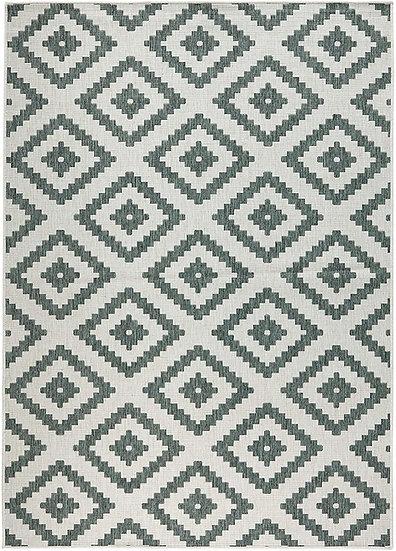 Bougari Reversible Carpet Malta Green Cream Indoor & Outdoor103131