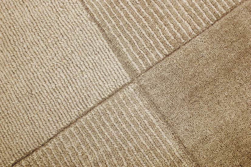 Flair Rugs Simplicity Wool Squares Gold
