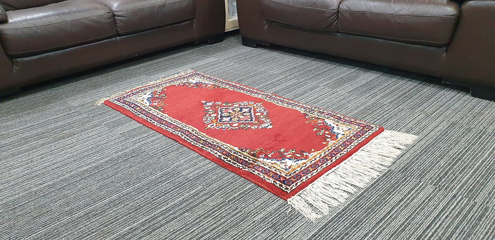 Vintage Wool Pre-Owned Rugs Indian Kirman 63 x 125 cm