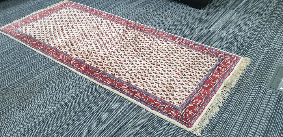 Vintage Wool Pre-Owned Rugs Persian Sarough Mir 80 x 200 cm
