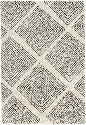 Mint Rugs Allure Design Velor Hash 102762 Wire Cream Grey