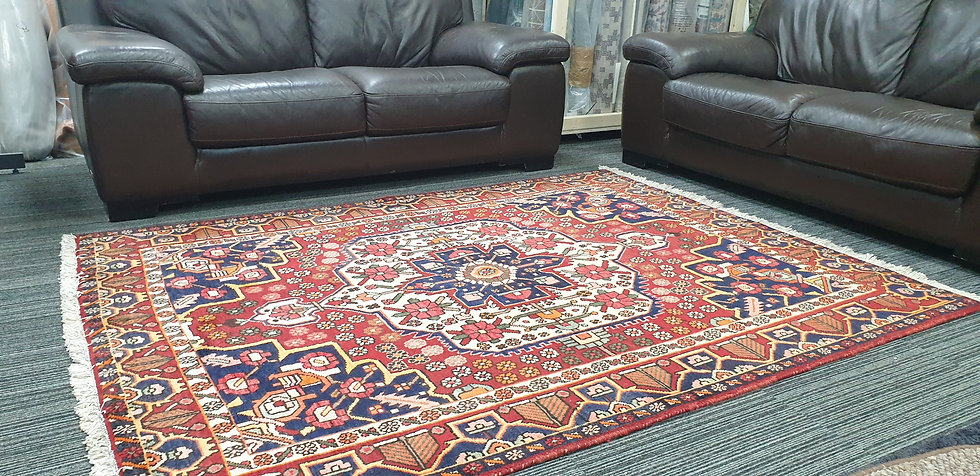Vintage Wool Pre-Owned Rugs Persian Hamadan 161 x 206 cm
