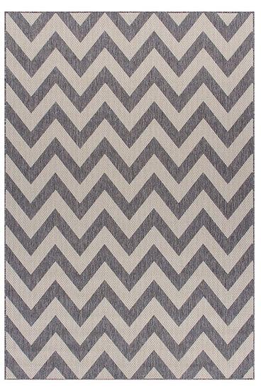Oriental Weavers Moda Chevron Grey 1503 E Flatweave