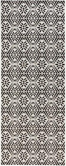 Zala Living Flat Weave Runner Creation Black Cream 102801