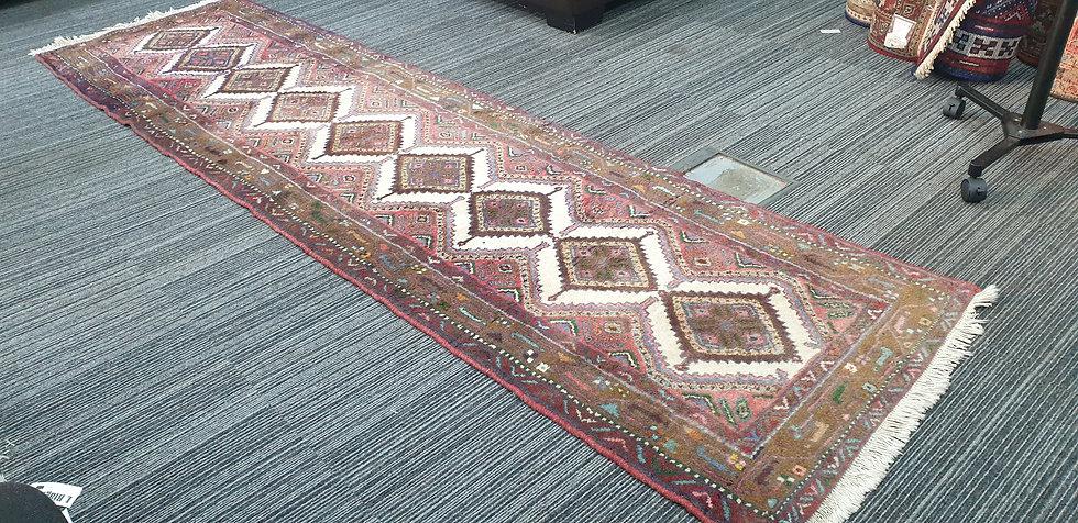 Vintage Wool Pre-Owned Rugs Persian Hamadan 82 x 298 cm