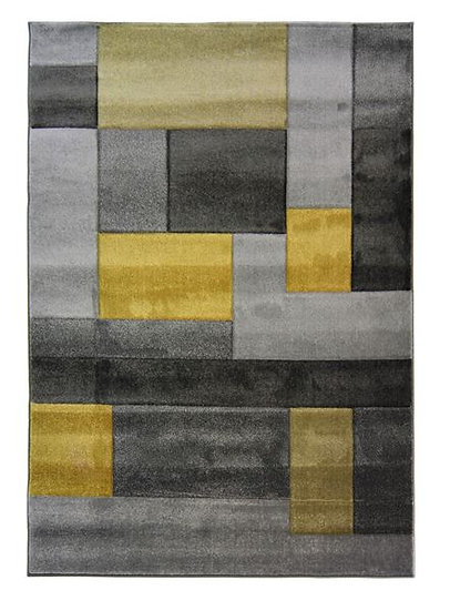 Flair Rugs Simplicity Hand Carved Cosmos Ochre